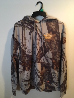 Size SMALL Camo Hoody (M/O Winter Gray Brk Up)