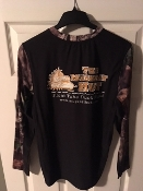 Size LARGE Mossy Oak Country Camo/Black Loose-fit Base Layer